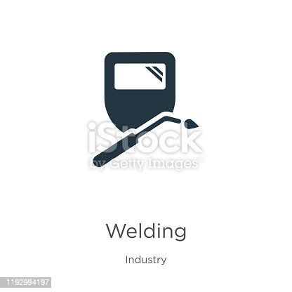 Welding icon vector. Trendy flat welding icon from industry collection isolated on white background. Vector illustration can be used for web and mobile graphic design, logo, eps10