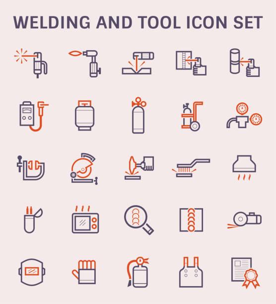 illustrazioni stock, clip art, cartoni animati e icone di tendenza di welding work icon - elettrodo