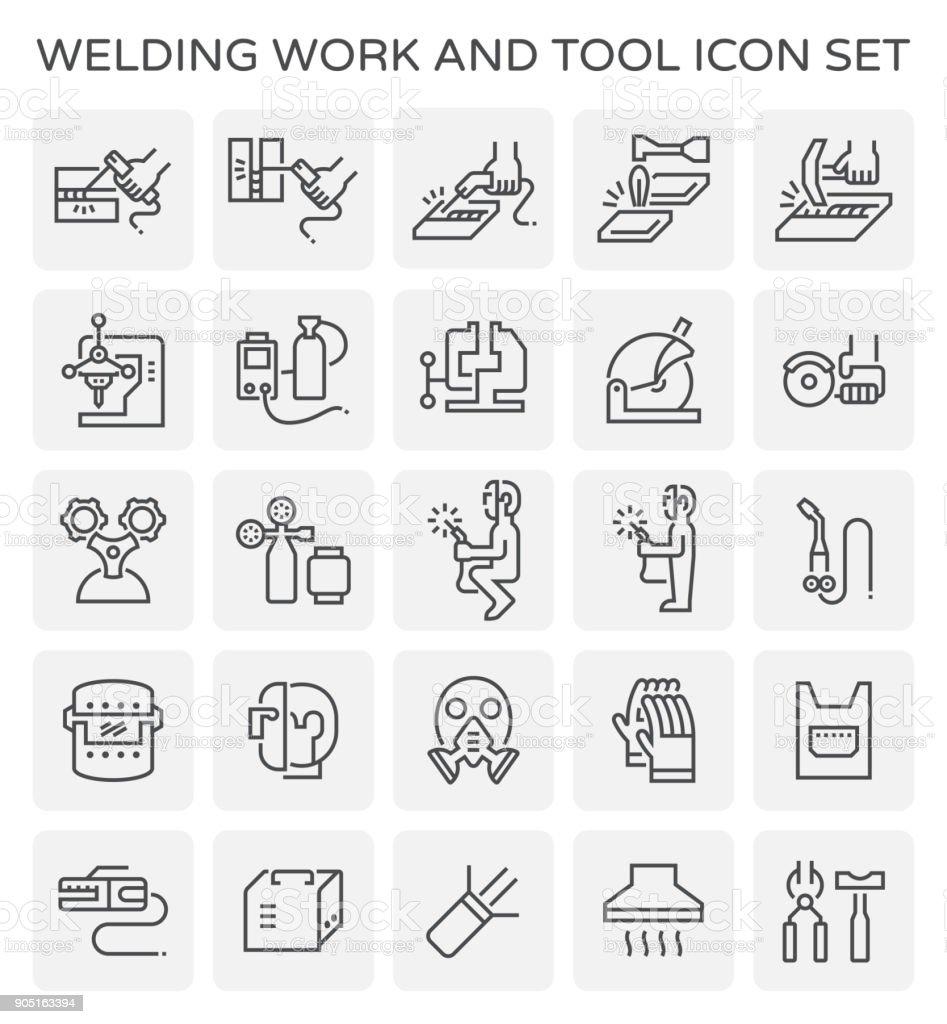 soldadura de trabajo icono - ilustración de arte vectorial
