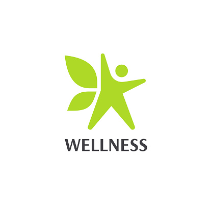 Wellness an fitness vector design template.