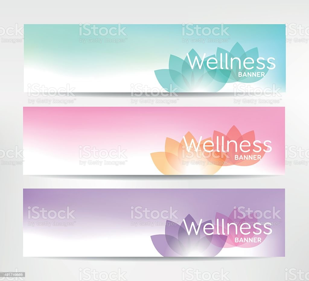 Wellness Banners vector art illustration