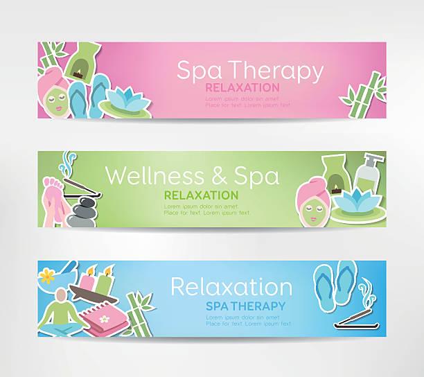 Wellness Banners vector art illustration