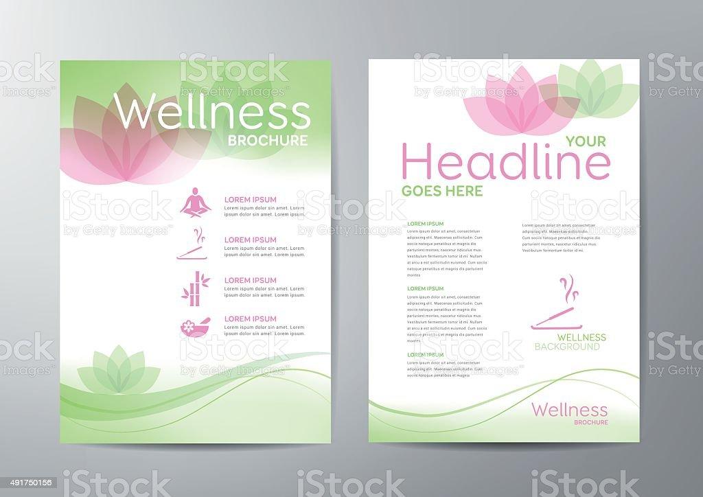 Wellness Brochure vector art illustration
