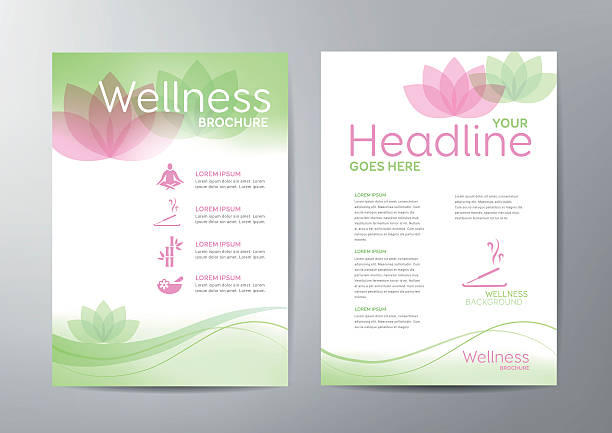 wellness broszura - massage stock illustrations