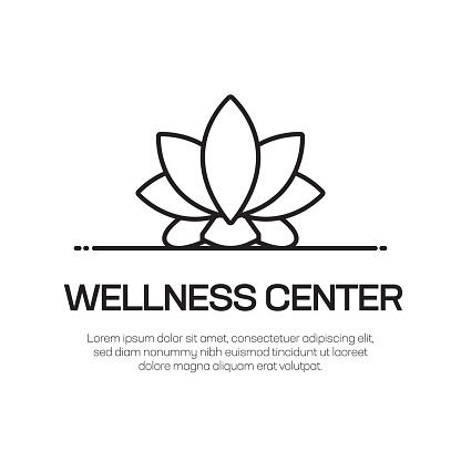Wellness Center Vector Line Icon - Simple Thin Line Icon, Premium Quality Design Element