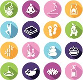 Wellness icons - spa, relaxation, health.