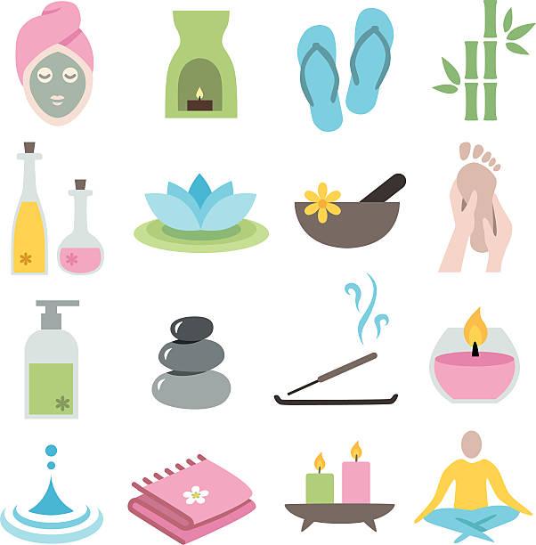 Wellness Icons vector art illustration