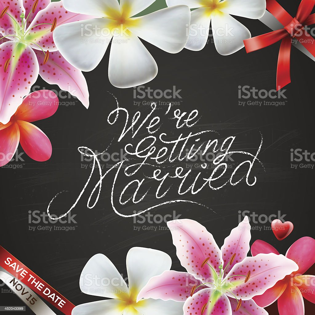 We're getting married royalty-free stock vector art