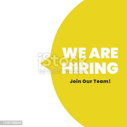 istock We're Hiring Icon. Join Our Team Flat Design. 1249198934
