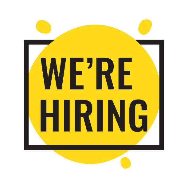 We're hiring. Vector flat illustration on white background. Business concept. vacancy stock illustrations