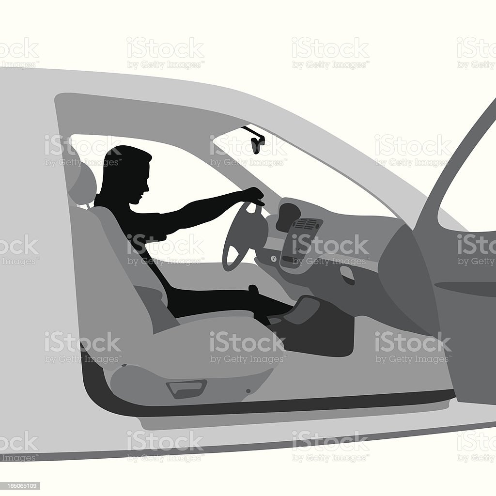 We're Late! Vector Silhouette royalty-free stock vector art