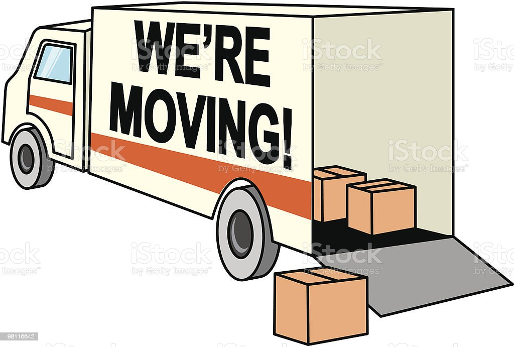 we're moving royalty-free were moving stock vector art & more images of box - container