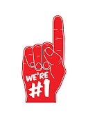 We're number 1 foam hand. Vector