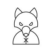werewolf, Halloween related icon, outline design editable stroke