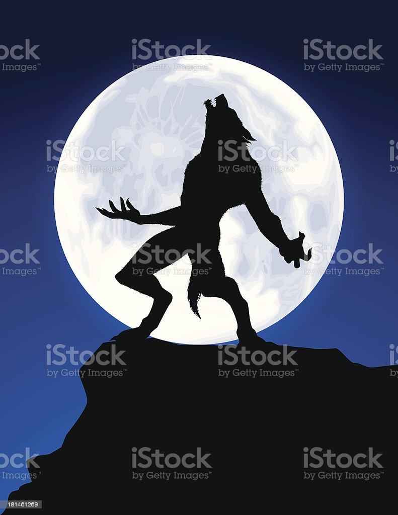 Werewolf Howl vector art illustration