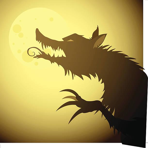 "Werewolf on Fullmoon ""Werewolf on Fullmoon illustration. EPS 8, ai 10 and high resolution jpg."" werewolf stock illustrations"