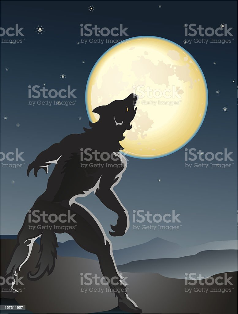Werewolf royalty-free stock vector art