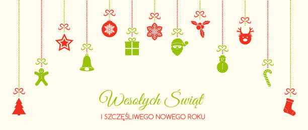 wesolych swiat merry christmas in polish christmas decoration vector stock vector art more images of backgrounds 893005918 istock