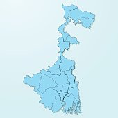 West Bengal blue map on degraded background vector
