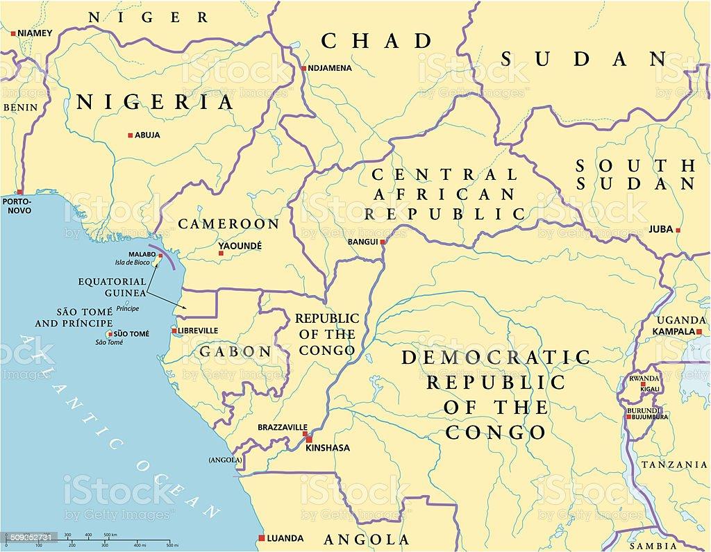 Carte Politique De Lafrique Centrale.Carte Politique De Lafrique Centrale Vecteurs Libres De