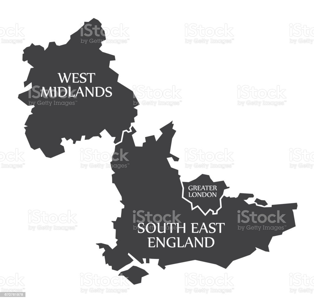 Map Of West London Uk.West Midlands Greater London South East England Map Uk