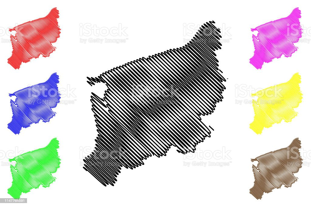 West Pomeranian Voivodeship map vector