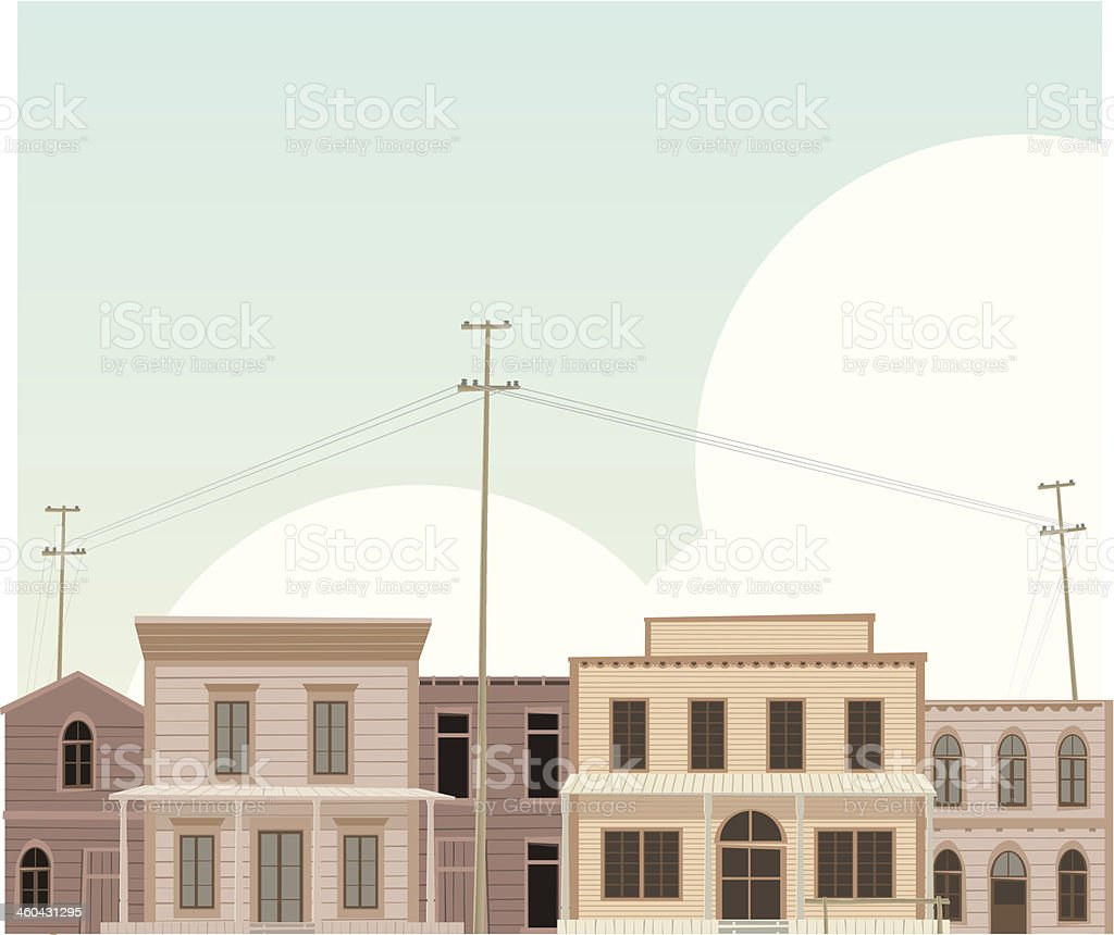West town royalty-free west town stock vector art & more images of architecture
