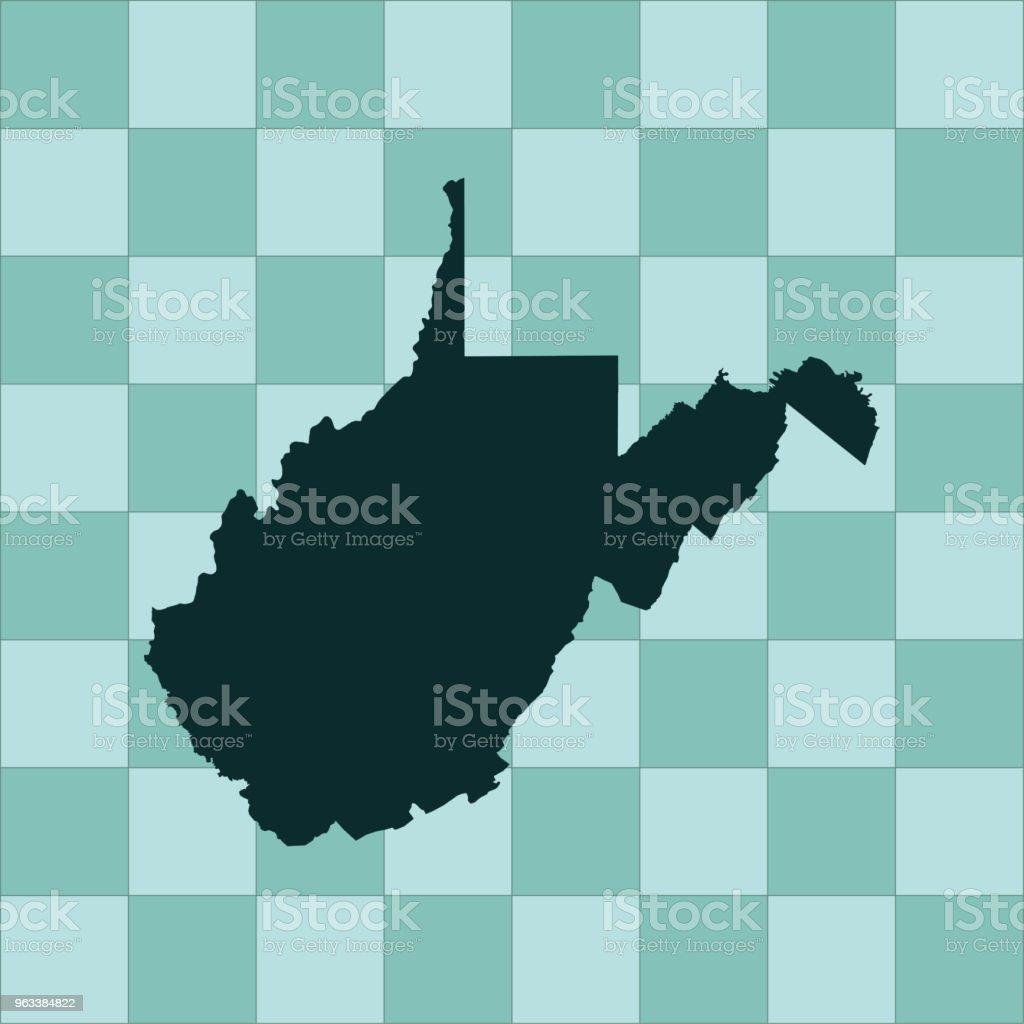 West Virginia map - Grafika wektorowa royalty-free (Ameryka Północna)