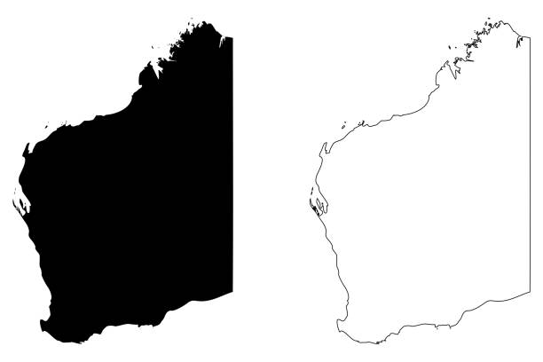 western australia map vector - western australia stock illustrations