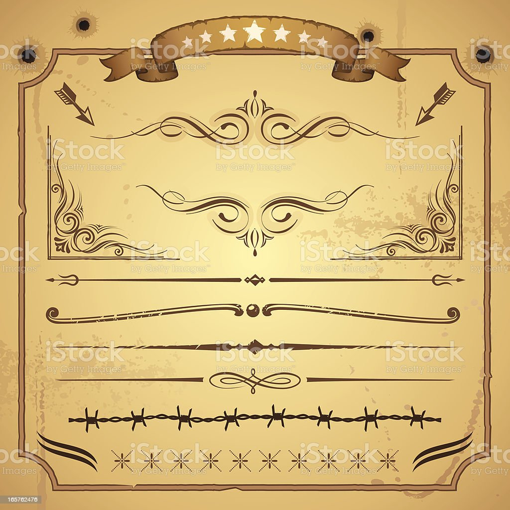 Western Concept Design Element royalty-free western concept design element stock vector art & more images of 19th century style
