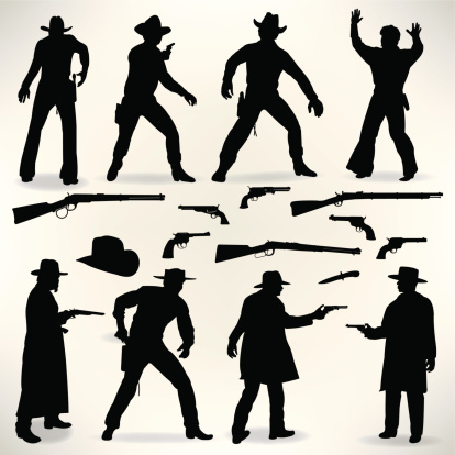 Western Cowboy Gunslingers - Gun Fight, Outlaws