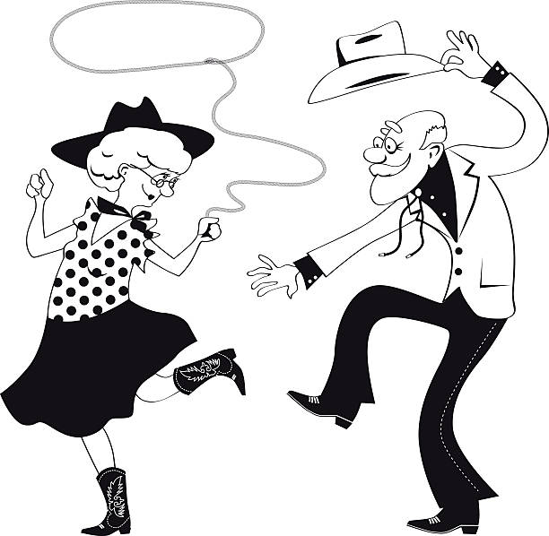 western dance line art - clip art of a black and white barn stock illustrations, clip art, cartoons, & icons