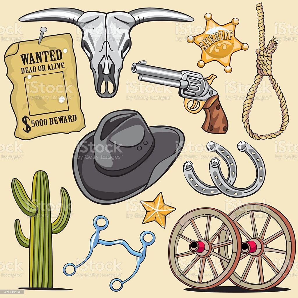 Western Design Elements royalty-free stock vector art
