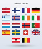 Western Europe Flags Collection