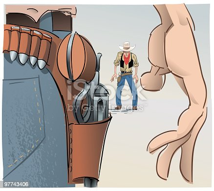 istock Western face-off #2 97743406