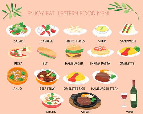 Western food menu line icon