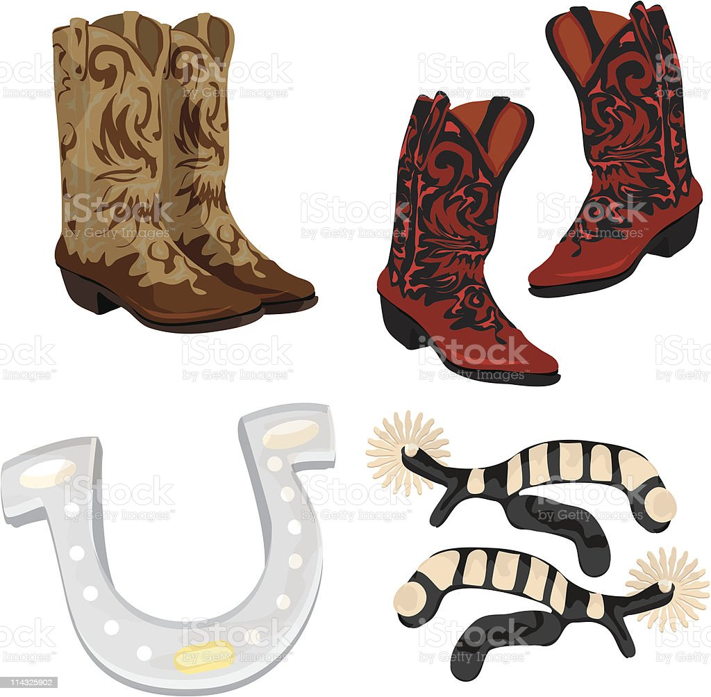 Western Gear royalty-free western gear stock vector art & more images of boot