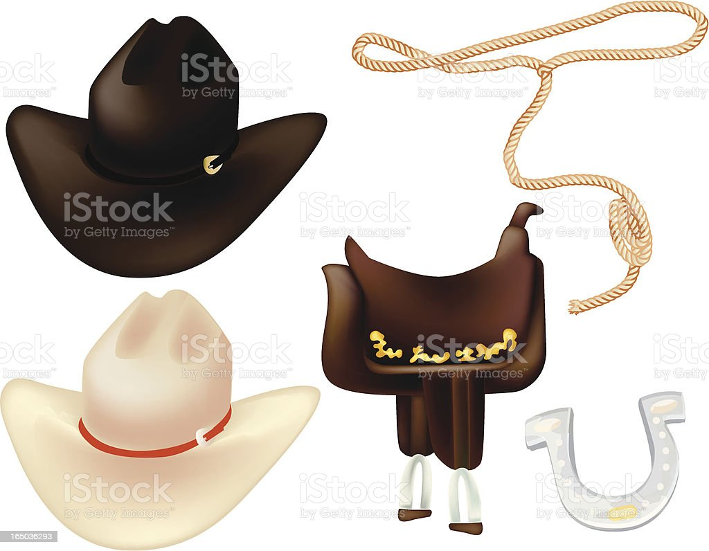 Western Gear royalty-free stock vector art