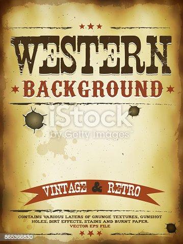 istock Western Grunge Poster 865366830