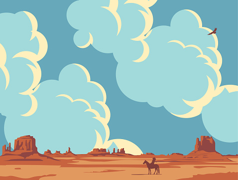 Western landscape with cloudy sky and lone Search Results Web results Native American
