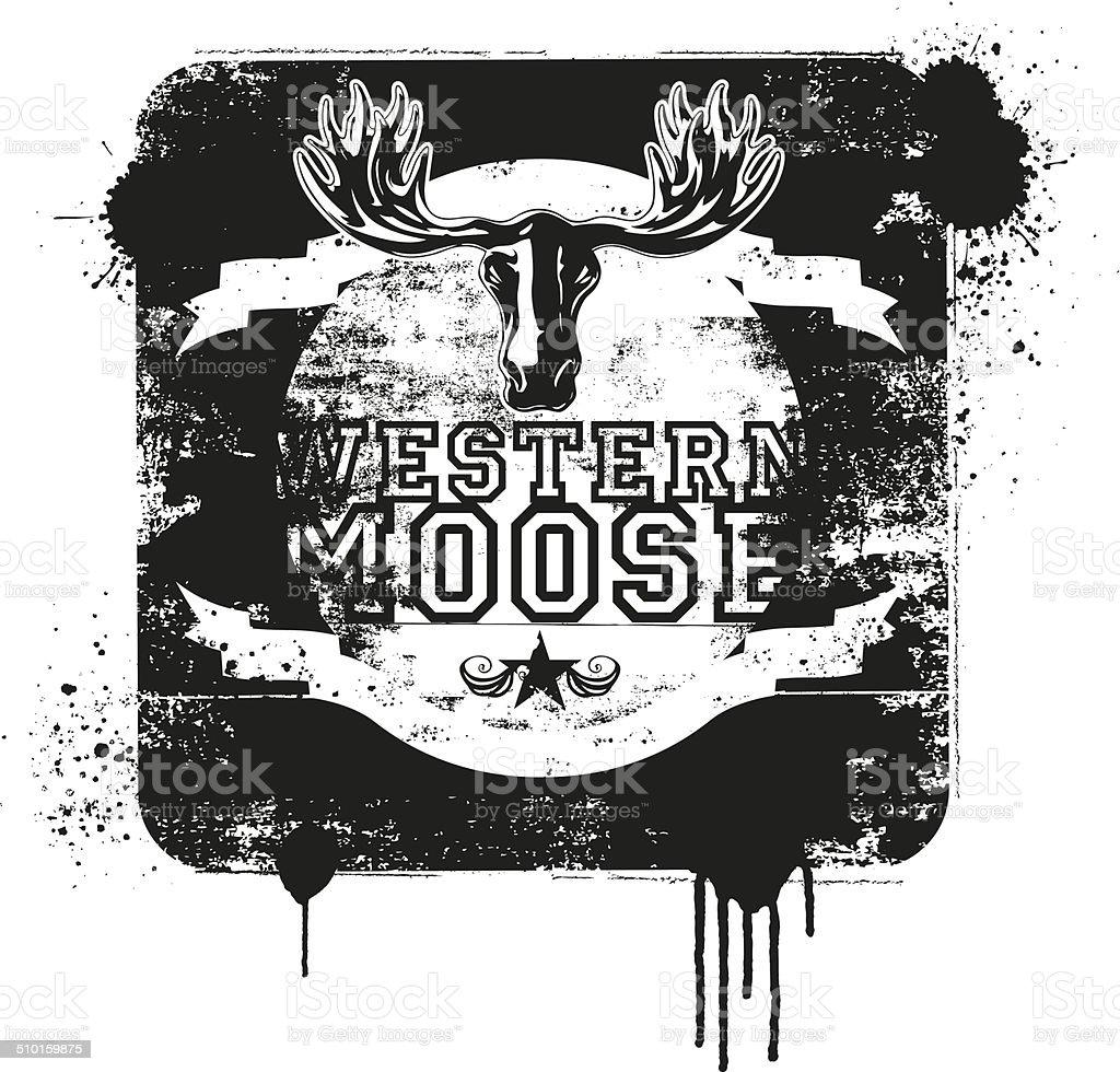 western moose vintage shield