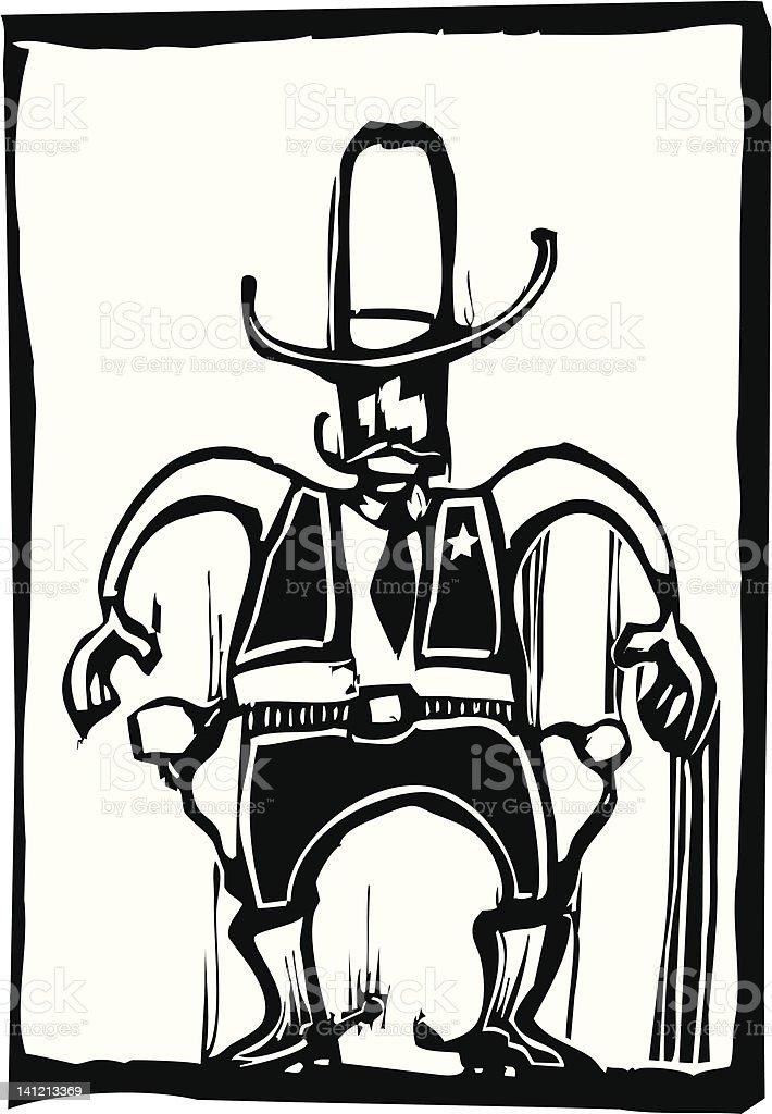Western Sheriff royalty-free stock vector art
