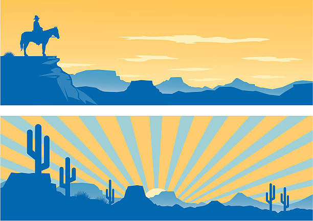 western-look - wüste stock-grafiken, -clipart, -cartoons und -symbole