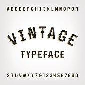 Western style retro distressed alphabet vector font.