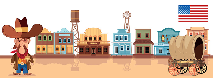 Western town and Sheriff