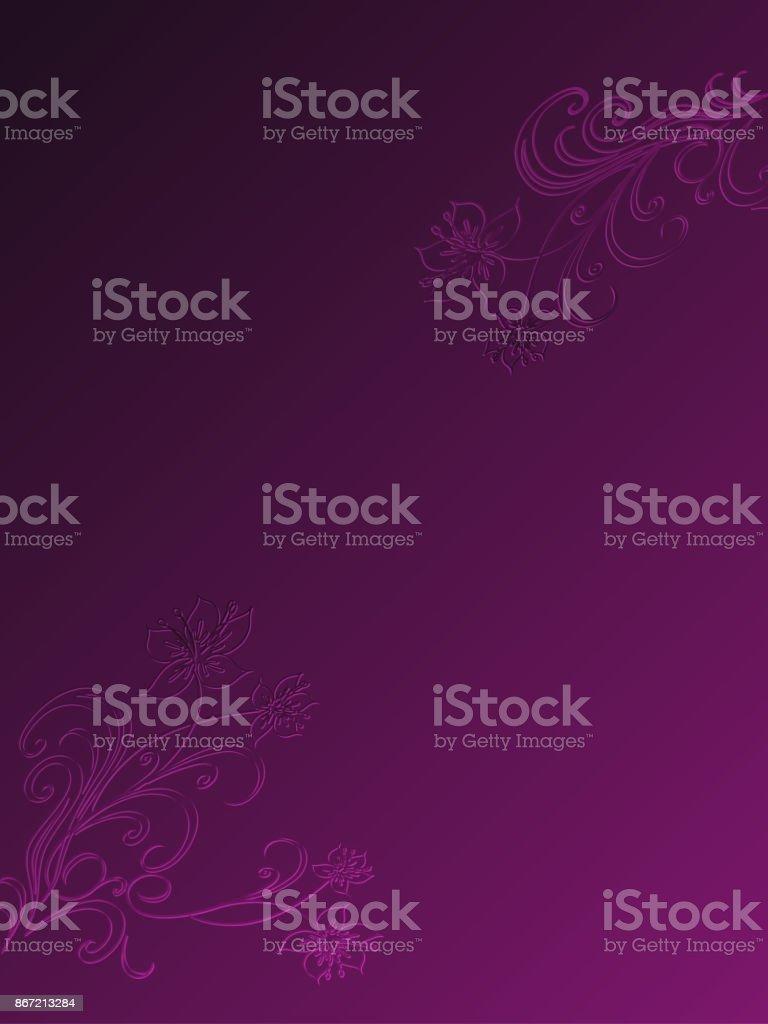 Western Violet Floral Background Template vector art illustration
