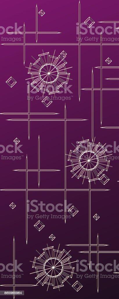 Western Violet Floral Background vector art illustration