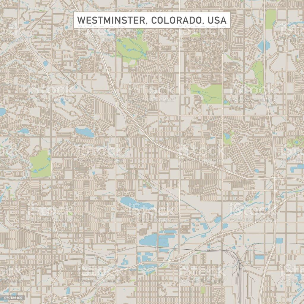 Colorado Karte Fluss.Westminster Colorado Usa Stadtstrasse Karte Stock Vektor Art