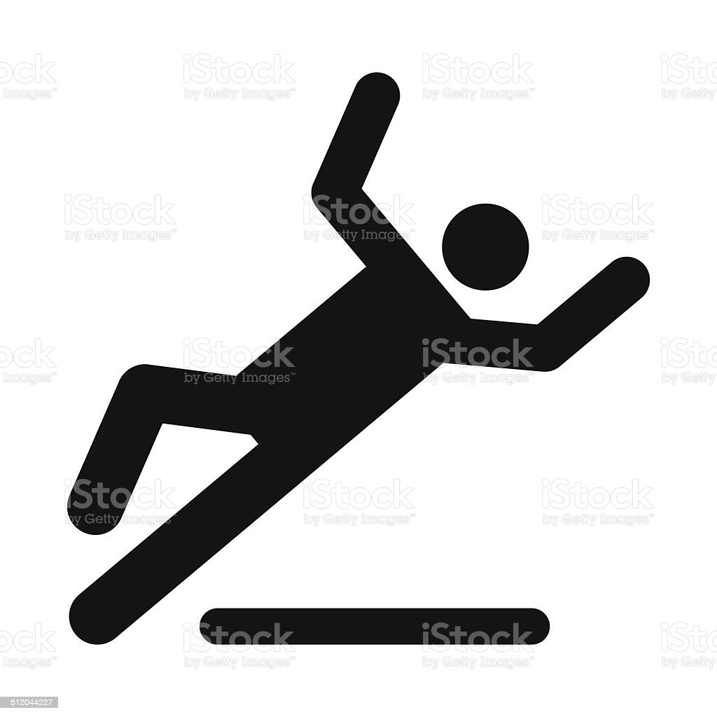 Wet floor caution sign vector art illustration