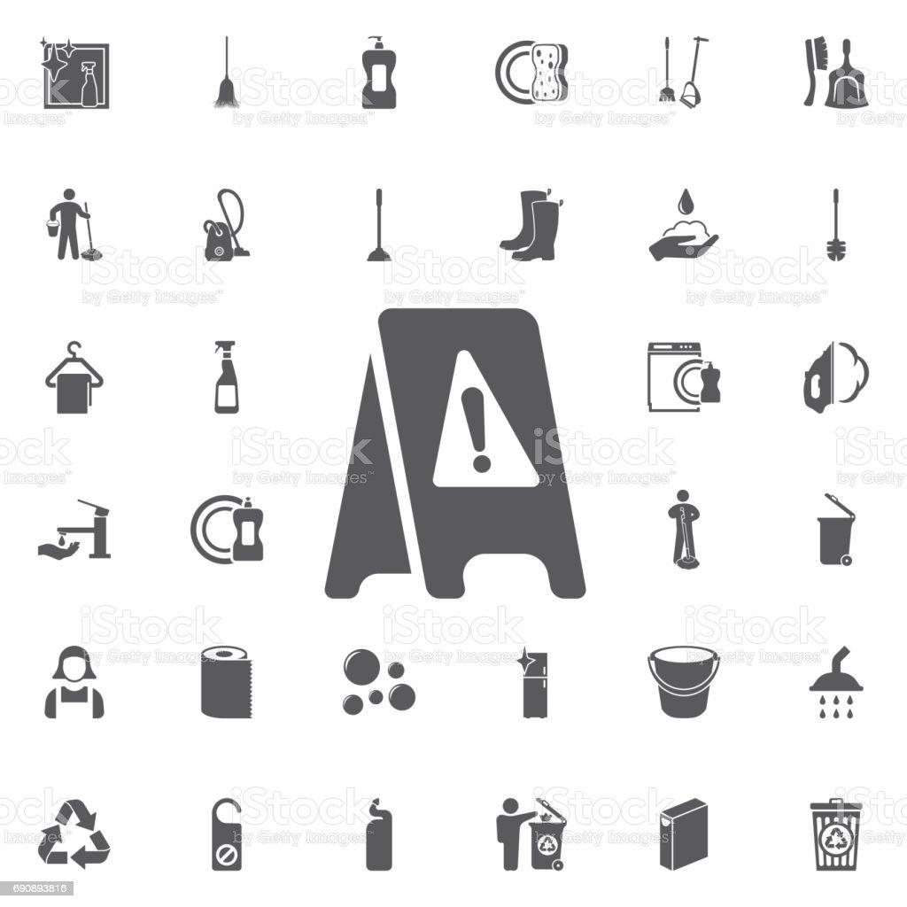 Nassen Sie Boden Symbol Abbildung Isolierten Vector Zeichen Symbol ...